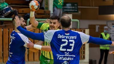 Tóth Károly (zöld-sárgában) megszerezte az idei 100. gólját - (Fotó: Horváth Bence - OrosCafé.hu)