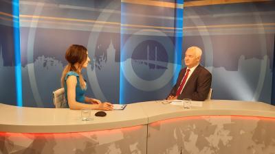 Gyemendi Réka műsorvezető és Herczeg Tamás országgyűlési képviselő (fotó: facebook.com/herczegtamas10)