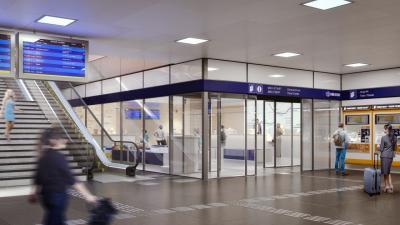Az utascentrum látványterve (forrás: mavcsoport.hu)