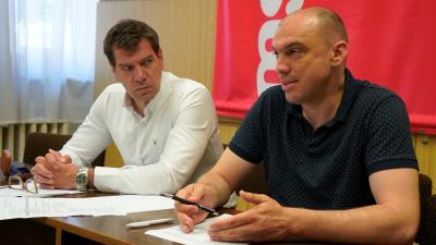 Az MSZP önkormányzati képviselőinek Közgyűlés utáni sajtótájékoztatója – (Fotó: Hidvégi Dávid/behir.hu)
