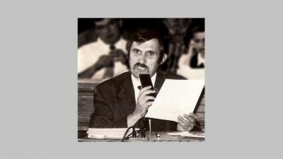 Tóth Károly egy békéscsabai közgyűlésen, úgy két évtizeddel ezelőtt