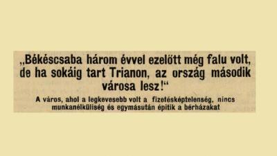 A Miskolci Napló 1926. július 16-án ezzel a címmel közölt cikket Csaba fejlődéséről
