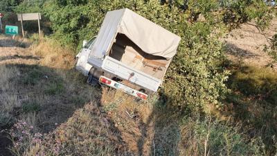 A Szeghalom külterületén történt baleset (fotó: police.hu)