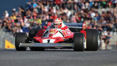 Lauda a Ferrari volánjánál. (Fotó: GEPA/Red Bull Content Pool)