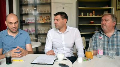 Fülöp Csaba, Miklós Attila és dr. Fülöp Zoltán – Fotó: behir.hu/Such Tamás