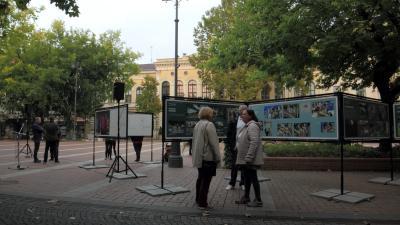 Szabadtéren látható a magyar sajtófotó kiállítás szenzációs anyaga - Fotó: Seres Gábor