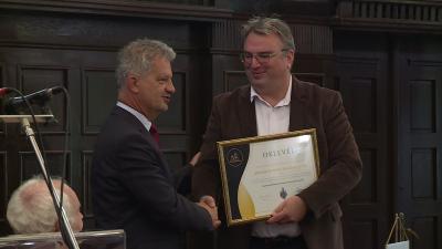 Szarvas Péter polgármester és Ugrai Gábor, az egyesület elnöke (Fotó: Fazekas Róbert)