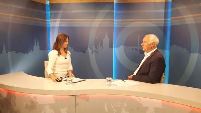 Herczeg Tamás országgyűlési képviselő a 7.Tv stúdiójában