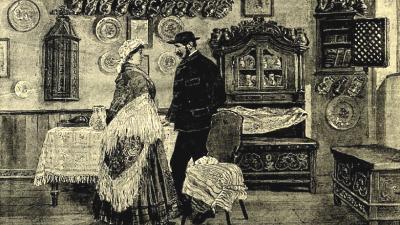 Békés-csabai szoba a házi iparcsarnokban (Vasárnapi Újság, 1885. augusztus 9.)